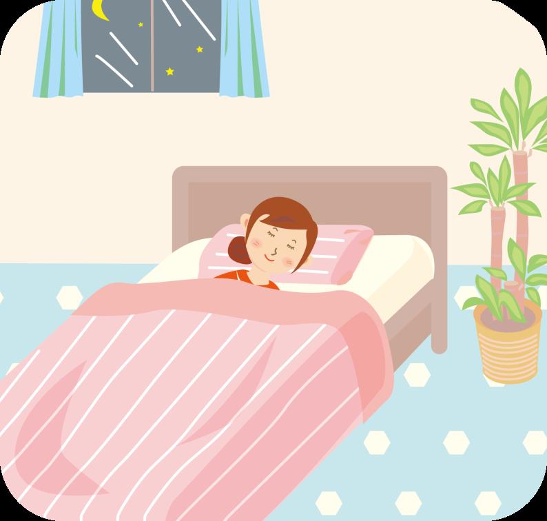 快適な睡眠_女性