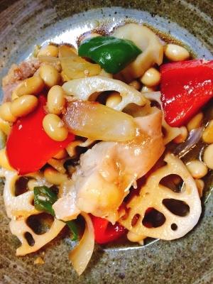 鶏肉と大豆のオイスター炒め|楽天レシピ